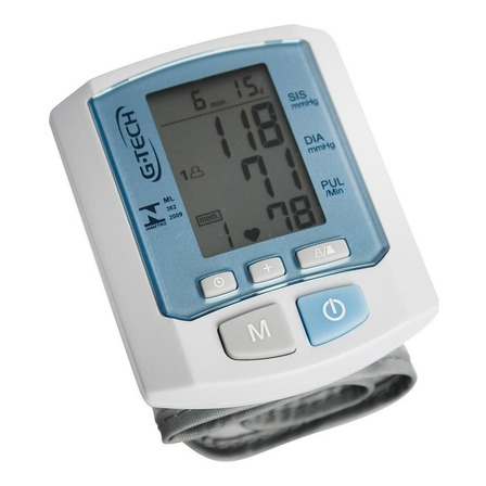 Aparelho medidor de pressão arterial digital de pulsoG-Tech RW450