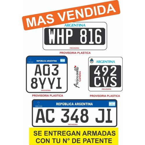 Chapas Patentes Provisorias De Pvc (plasticas)