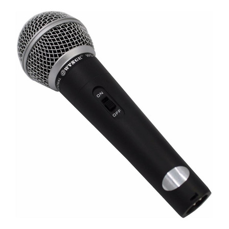 Microfone WVNGR M-58 dinâmico  cardióide preto/prata