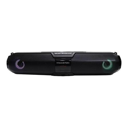 Caixa de som H'maston X22S-LCD portátil com bluetooth  preta