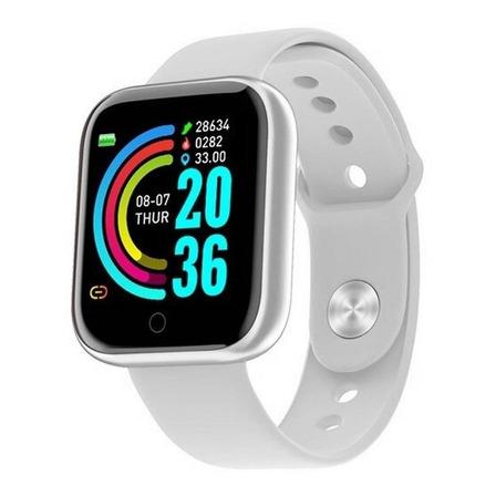 """Smartwatch Smart Bracelet D20 D20 D20 1 1.3"""" caja de  plástico  plata malla de  silicona D20"""