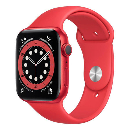 Apple Watch  Series 6 (GPS) - Caja de aluminio (PRODUCT)RED de 44 mm - Correa deportiva (PRODUCT)RED