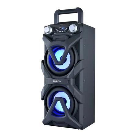 Parlante Philco DJP10 portátil con bluetooth  negro