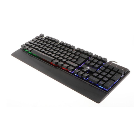 Teclado gamer Xtech Armiger XTK-510S QWERTY español España color negro con luz RGB