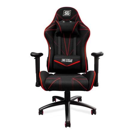 Silla de escritorio Vorago CGC-500 gamer ergonómica  negra y roja con tapizado de tela