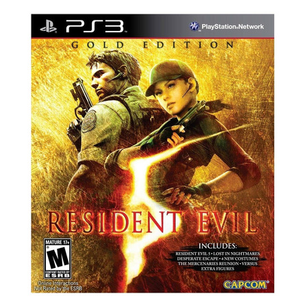 Resident Evil 5 Gold Edition Digital PS3 Capcom