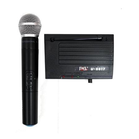 Microfone sem fio JWL U-8017 unidirecional