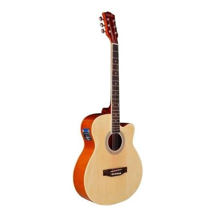 Guitarra electroacústica Texas AG10-LC5  abedul  natural derecha