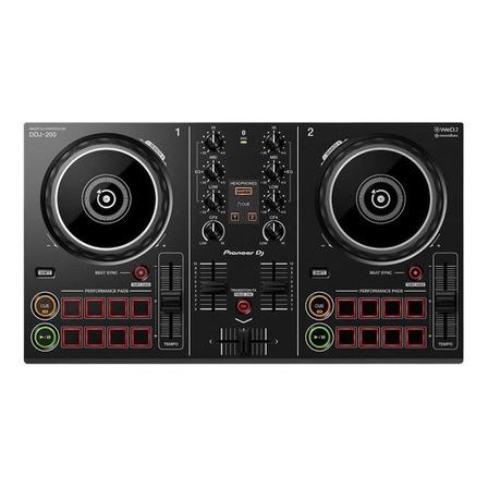 Controlador DJ Pioneer DDJ-200 negro de 2 canales