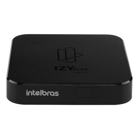 Tv box Intelbras IZY Play de voz Full HD 8GB preto com memória RAM de 1GB