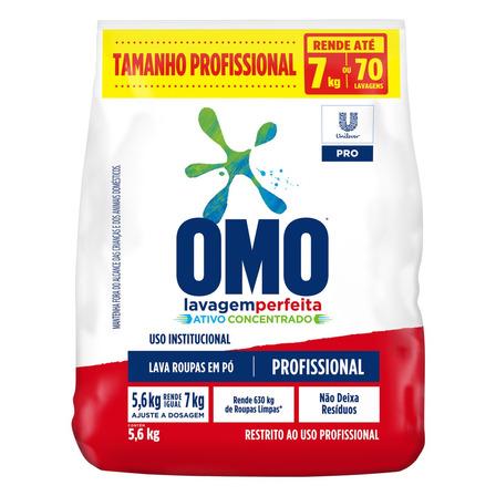 Sabão em pó Omo Lavagem Perfeita Pro pacote 5.6kg