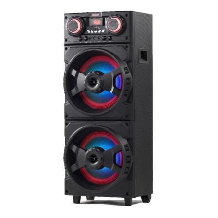 Caixa de som Amvox Aca 1001 Turbo Player com bluetooth preta 110V/220V