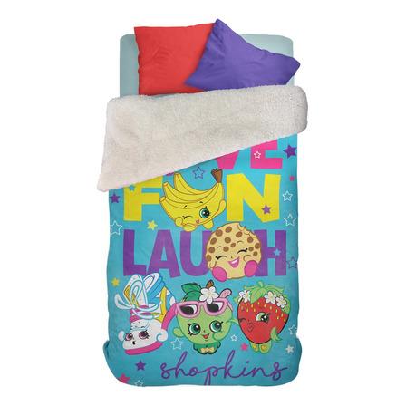 Frazada Piñata Corderito 1 1/2 plaza Shopkins Love Fun
