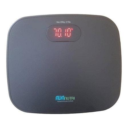 Balança corporal digital Avanutri AVA-350 preta, hasta 200 kg
