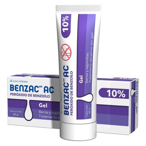 Benzac Gel Peróxido Benzoilo 10% Elimina Acné Puntos Negros
