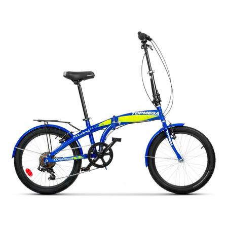 Bicicleta plegable TopMega   R20 7v frenos v-brakes cambio Shimano Tourney FT55 color azul