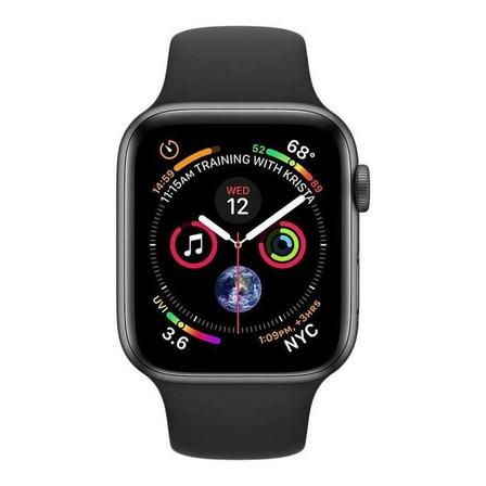 "Smartwatch IWO IWO 1:1 IWO12 Series 5 1.54"" caixa 44mm  black pulseira  black"