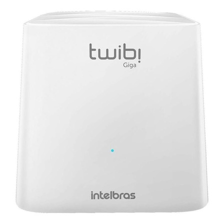 Sistema Wi-Fi mesh, Roteador Intelbras Kit Twibi Giga branco 100V/240V 2 unidades