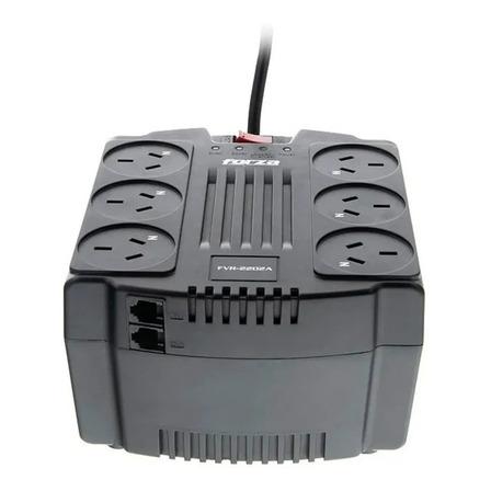 Estabilizador de tensión Forza FVR 2200VA Series FVR-2202A 2200VA entrada y salida de 220V CA negro