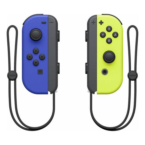 Set de control joystick inalámbrico Nintendo Switch Joy-Con (L)/(R) azul y amarillo-neón