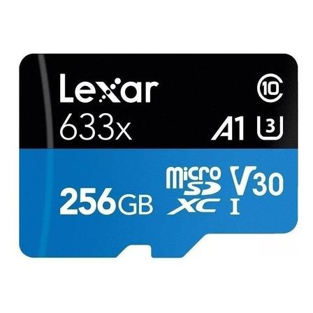 Cartão de memória Lexar LSDMI256BB-633A High-Performance 633x com adaptador SD 256GB