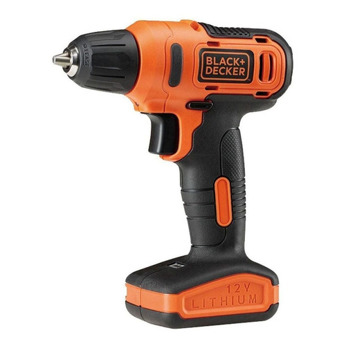 Taladro eléctrico  destornillador Black+Decker LD12S inalámbrico 900rpm naranja 110V/220V 12V