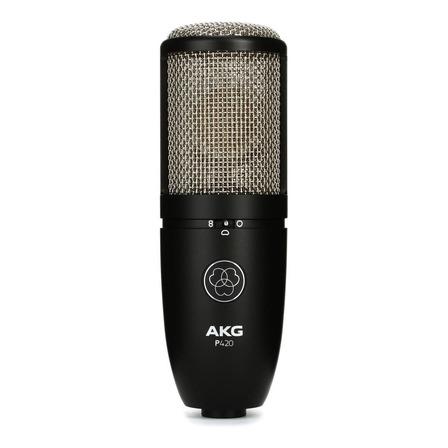 Microfone AKG P420 condensador  cardióide e omnidirecional preto