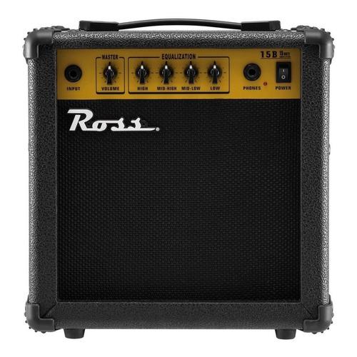 Amplificador Ross B15 para bajo de 15W color negro 220V