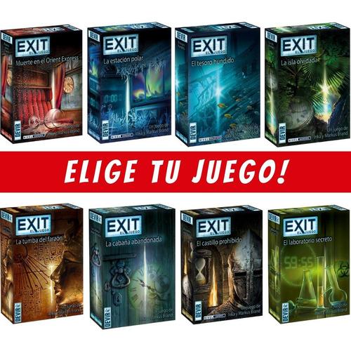 Exit - Juego De Mesa - Descifra El Misterio - Elige Tu Juego