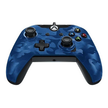 Control joystick PDP Xbox One Wired Controller blue camo
