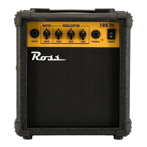 Amplificador Ross G10 Transistor para guitarra de 10W color negro/amarillo 220V
