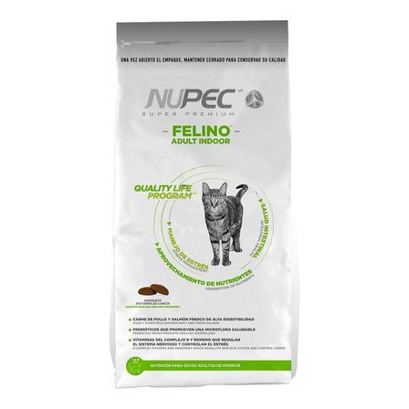 Alimento Nupec Indoor para gato adulto sabor pollo/salmon/arroz en bolsa de 5kg