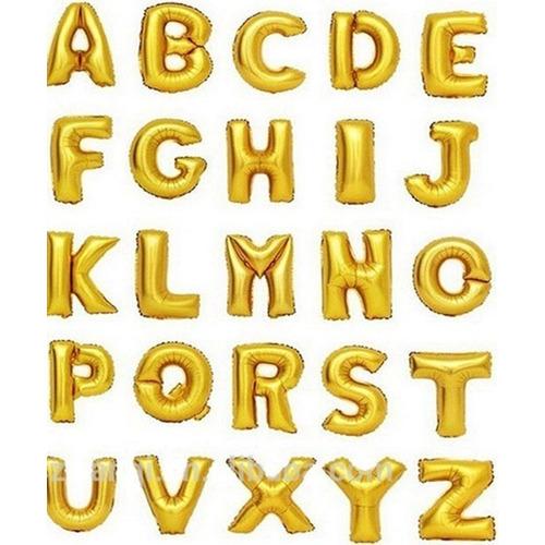 Globos Metalizados Números Letras 40cm De Alto Para Aire!!!