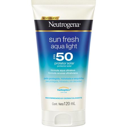 Protetor solar Neutrogena Sun Fresh Aqua Light  FPS50 120ml