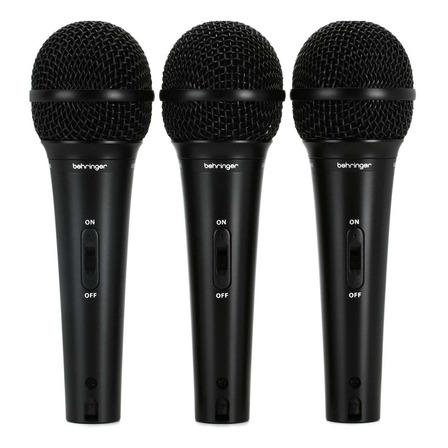 Micrófonos Behringer Ultravoice XM1800S supercardioide negros