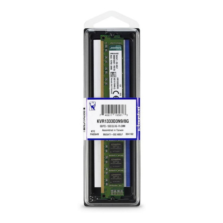 Memória RAM ValueRAM color Verde  8GB 1x8GB Kingston KVR1333D3N9/8G