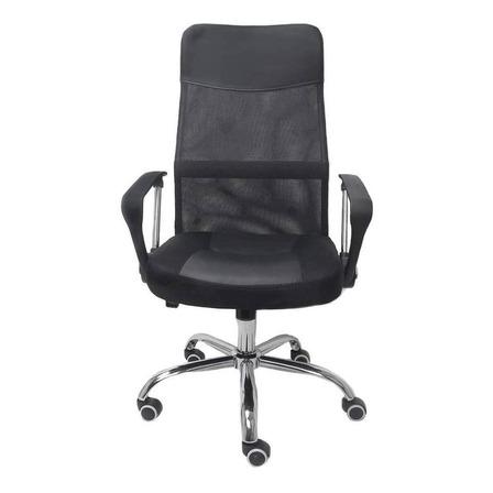 Cadeira de escritório Trevalla TL-CDE-02-1B  preta com estofado do mesh