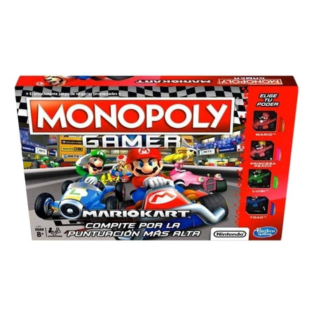 Juego de mesa Monopoly Gamer Mario Kart Hasbro