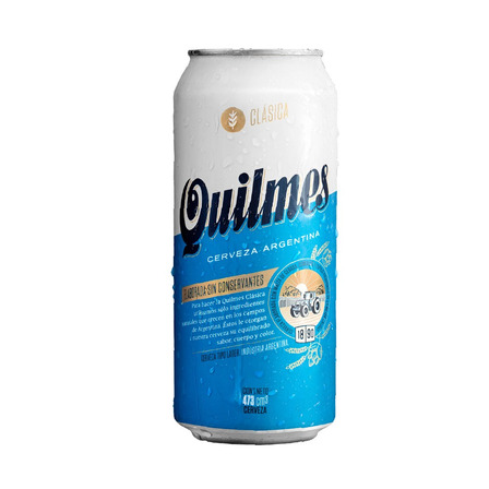 Cerveza Quilmes Clásica American Adjunct Lager rubia lata 473mL