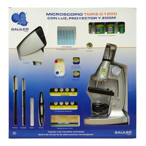 Microscopio Galileo Tmpz-c1200 Con Proyector Con Luz