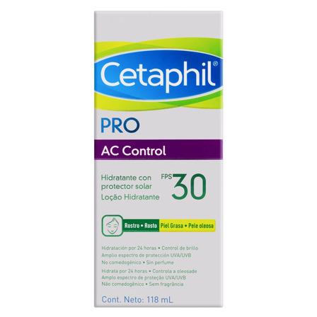 Loção Hidratante Facial FPS 30 sem Fragrância Cetaphil Pro AC Control Caixa 118ml