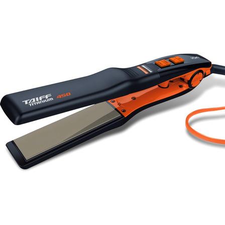 Chapinha de cabelo Taiff Elegance Titanium 450 laranja e preta 110V/220V