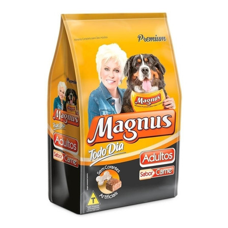 Alimento Magnus Premium Todo Dia para cachorro adulto de raça média/grande sabor carne em saco de 15kg