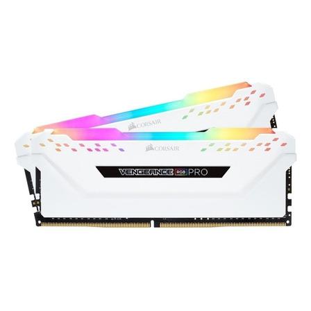 Memória RAM Vengeance RGB Pro color White  16GB 2x8GB Corsair CMW16GX4M2C3200C16W