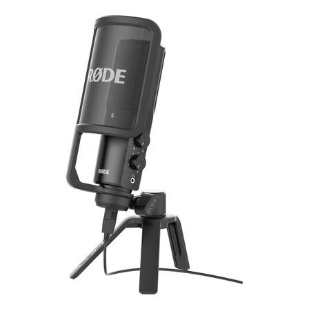 Micrófono Rode NT-USB condensador  cardioide negro