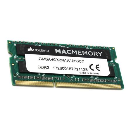 Memoria RAM 4GB 1x4GB Corsair CMSA4GX3M1A1066C7 Mac Memory