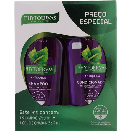 Kit Shampoo+Condicionador Antiqueda Phytoervas 250ml
