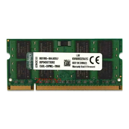 Memória RAM 2GB 1x2GB Kingston KVR800D2S6/2G ValueRAM