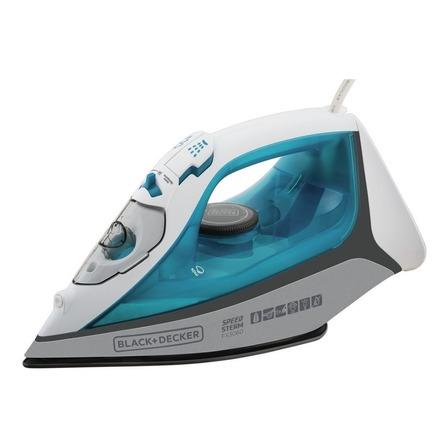 Ferro de passar a vapor Black+Decker FX3060 cor azul e branco com base antiaderente 127V