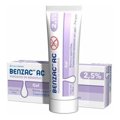 Benzac Gel Peróxido Benzoilo 2.5% Elimina Acné Puntos Negros